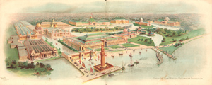 One artist's bird's eye view rendering of the exposition plans.