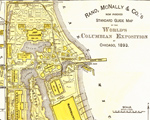 Portion of an 1893 Rand McNally map of the exposition grounds.